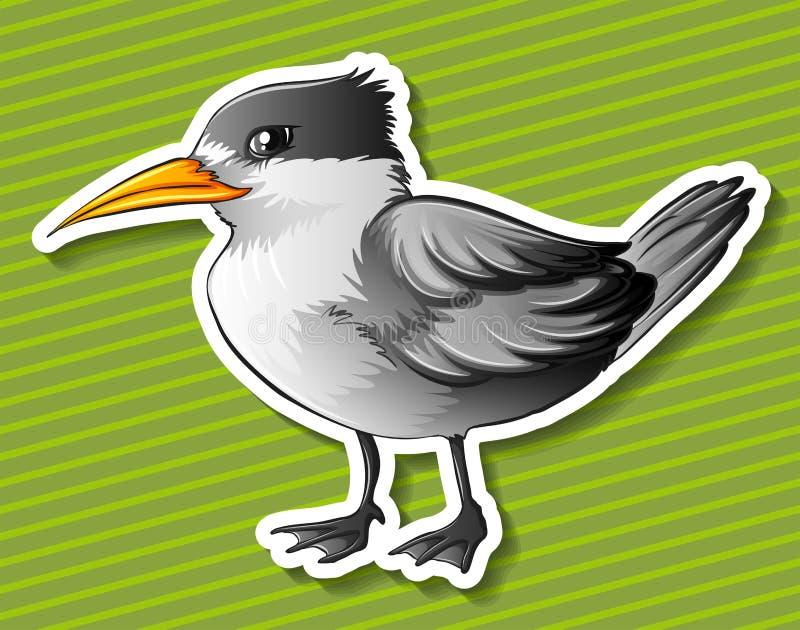 Pássaro cinzento ilustração do vetor