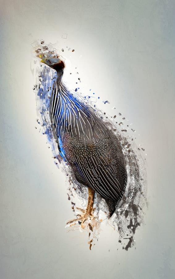 Pássaro, conceito animal abstrato ilustração stock