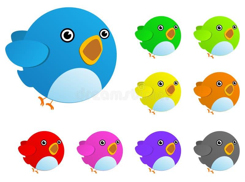 Pássaro da cor ilustração do vetor