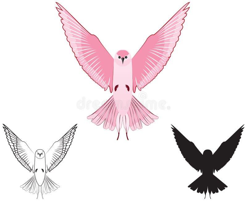 Pássaro da cor de Rosa ilustração royalty free