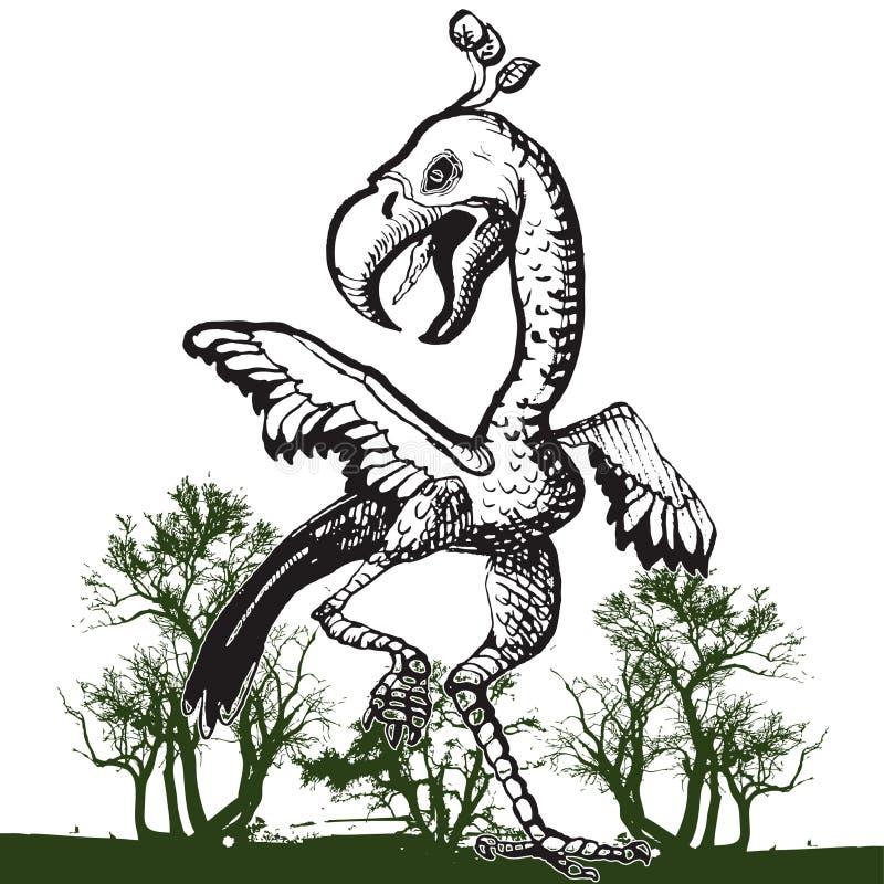 Pássaro da dança ilustração stock