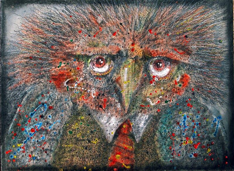 Pássaro da fantasia ilustração stock