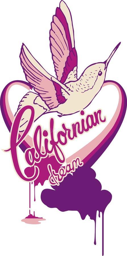Pássaro de Califórnia ilustração stock