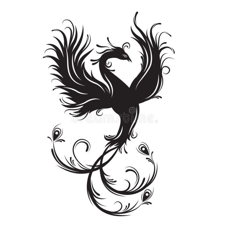 Pássaro de Phoenix ilustração stock