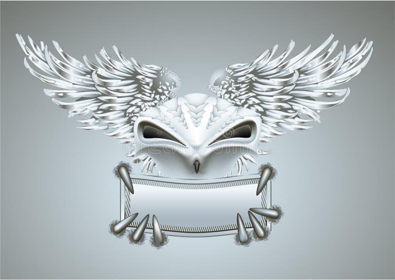 Pássaro de prata ilustração stock