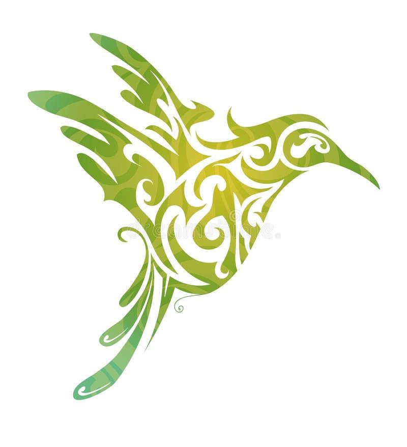Pássaro de vôo ilustração royalty free