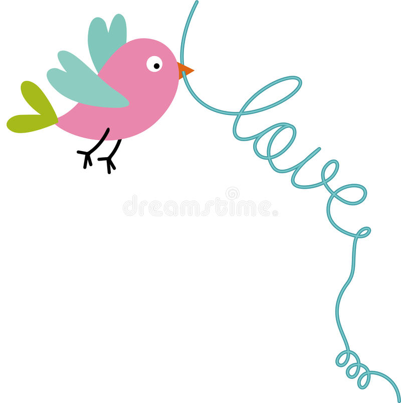 Pássaro do amor ilustração royalty free