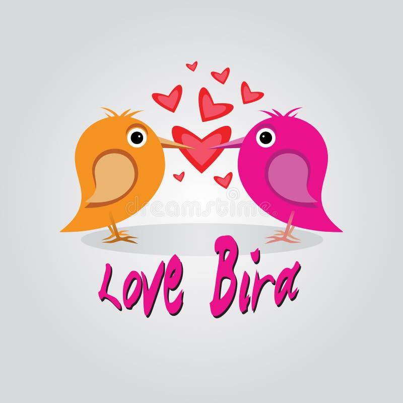 Pássaro do amor fotos de stock