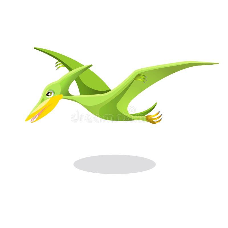 Pássaro do Archaeopteryx, o original ou o primeiro isolado no branco ilustração royalty free