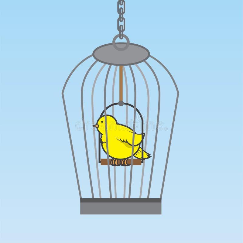 Pássaro do Birdcage ilustração royalty free