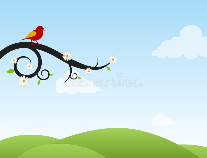 Pássaro do canto ilustração do vetor