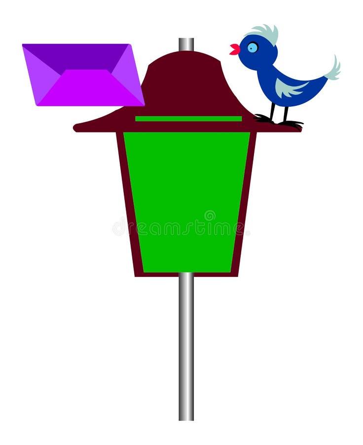 Pássaro do correio ilustração do vetor