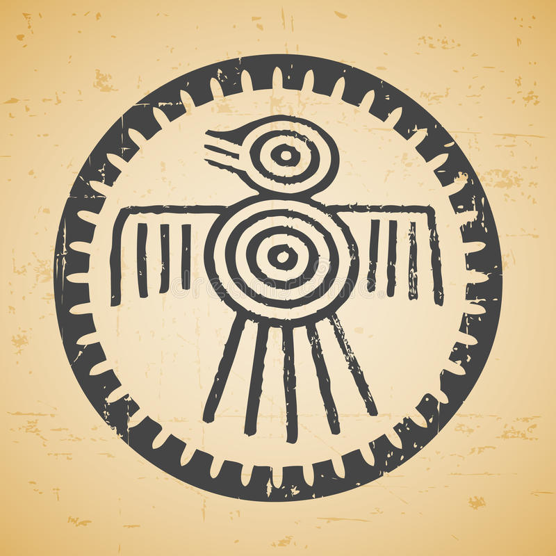 Pássaro do Maya ilustração royalty free