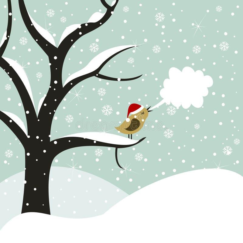 Pássaro do Natal ilustração stock