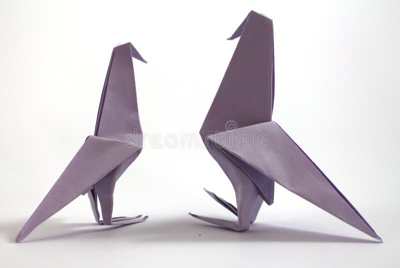 Pássaro do origâmi imagens de stock royalty free