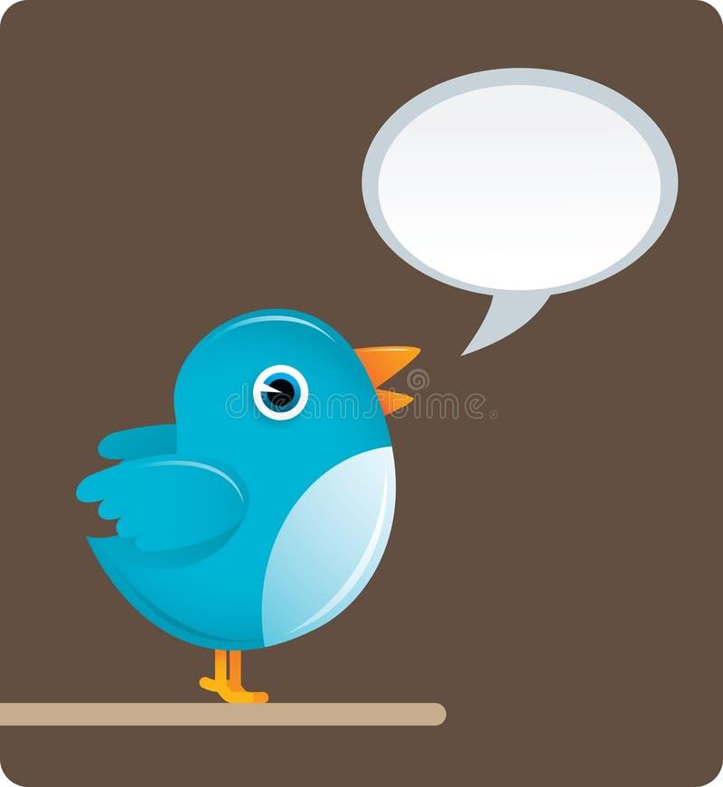 Pássaro do Twitter ilustração royalty free