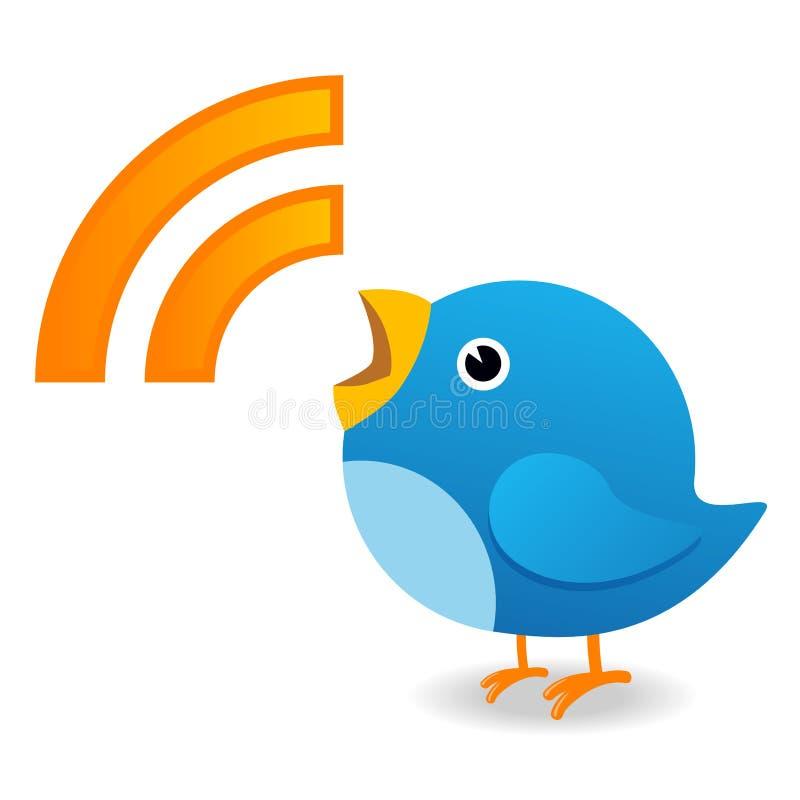 Pássaro do Twitter ilustração stock