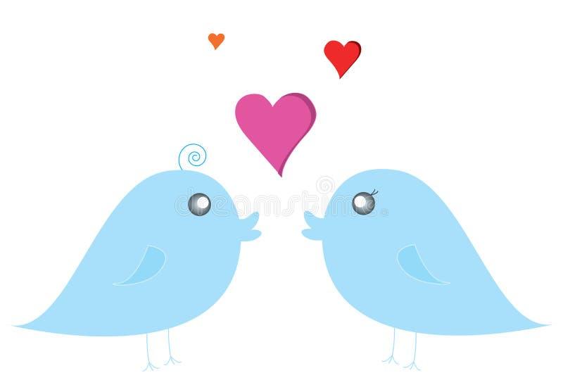 Pássaro dos pares ilustração do vetor