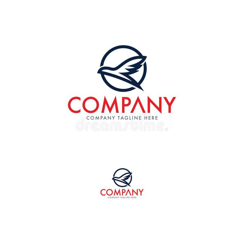Pássaro e Eagle Logo Template criativos ilustração royalty free