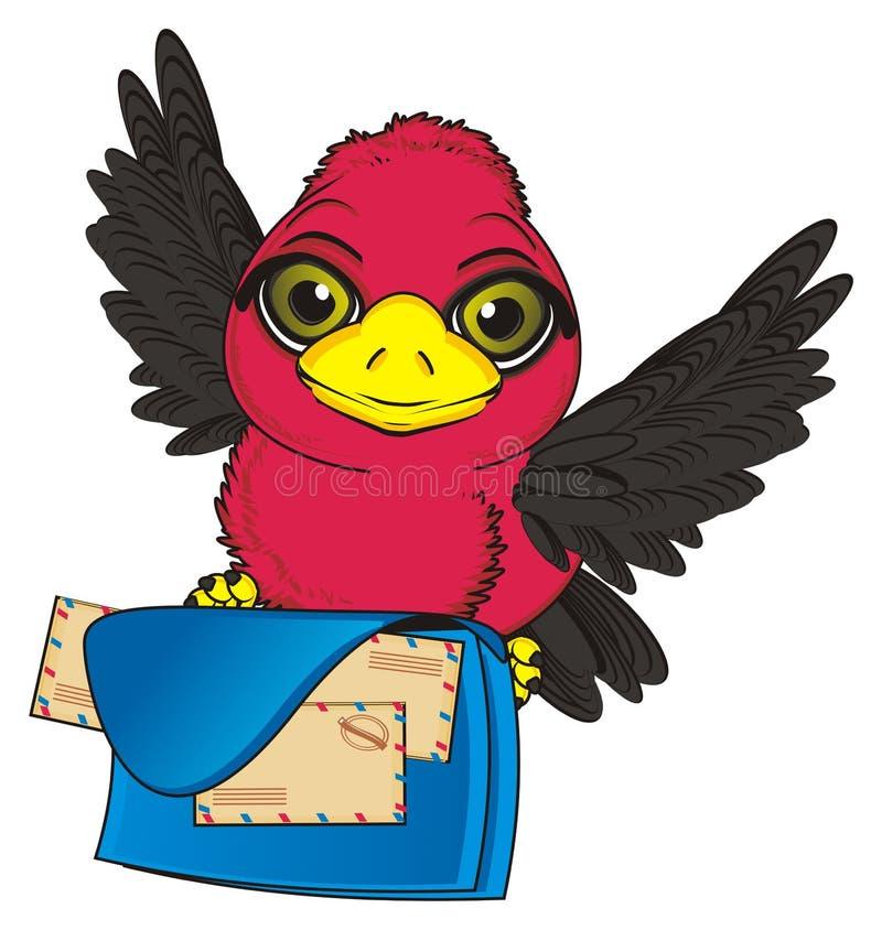 Pássaro e saco grande ilustração royalty free
