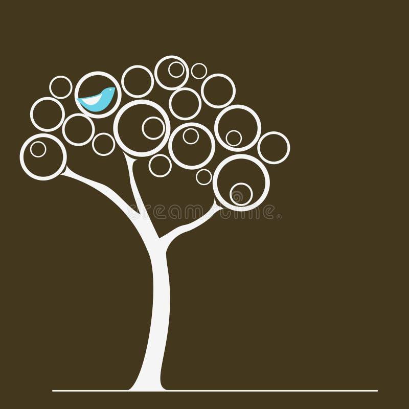 Pássaro em uma árvore ilustração royalty free