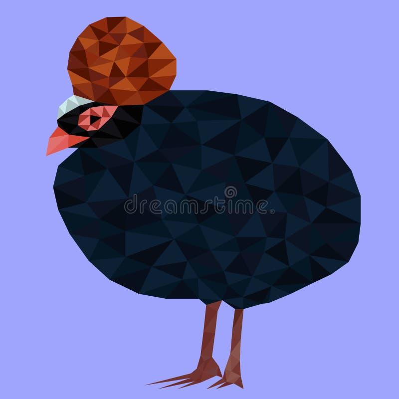 Pássaro exótico bonito do polígono bonito ilustração stock