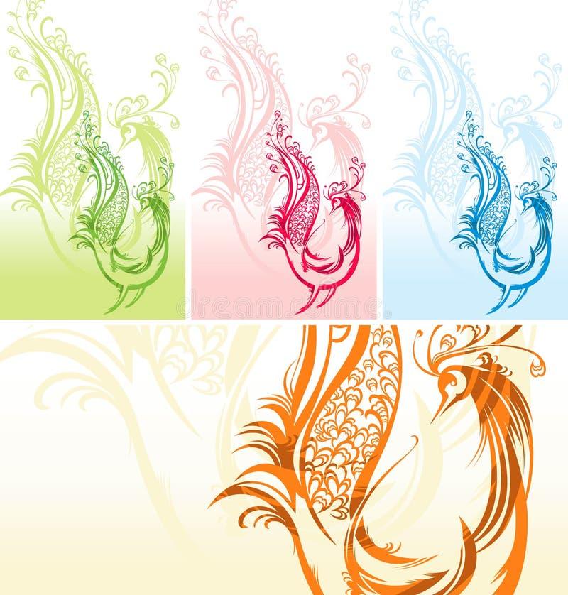 Pássaro fantástico ilustração royalty free