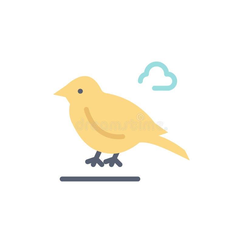 Pássaro, Ingleses, pequenos, ícone liso da cor do pardal Molde da bandeira do ícone do vetor ilustração stock