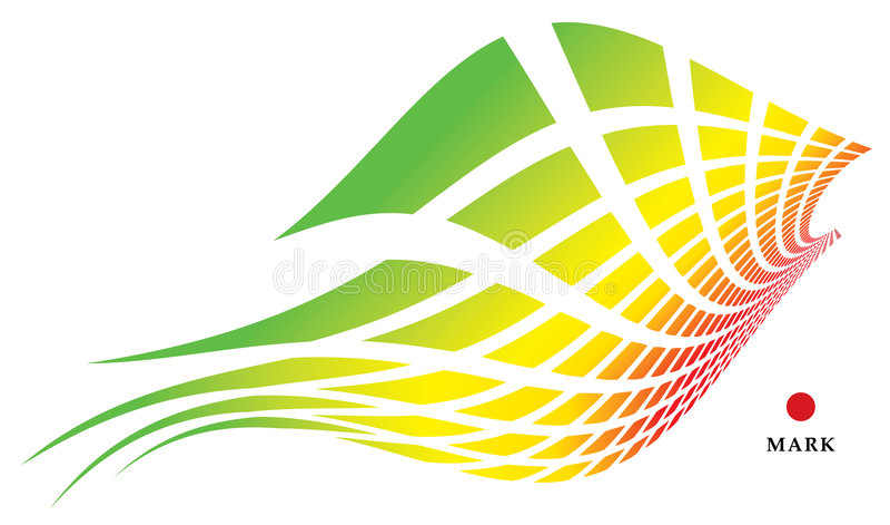 Pássaro iridescent abstrato ilustração stock
