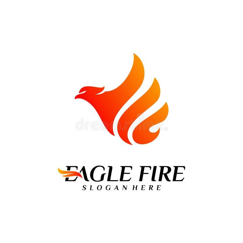 Pássaro Logo Design Concepts do fogo de Phoenix Pomba Eagle Logo Template Vetora S?mbolo do ?cone ilustração royalty free