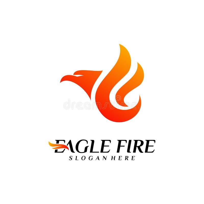 Pássaro Logo Design Concepts do fogo de Phoenix Pomba Eagle Logo Template Vetora S?mbolo do ?cone ilustração stock