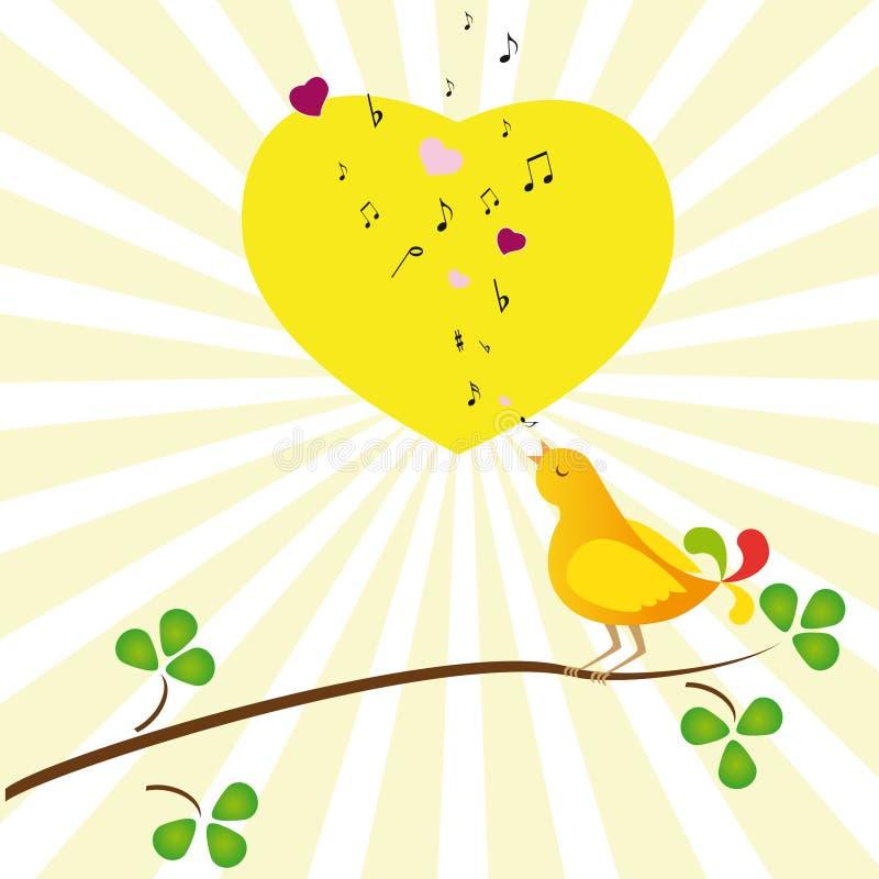 Pássaro no amor ilustração stock
