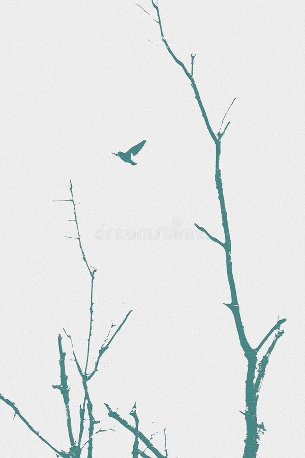 Pássaro pelo ramo imagem de stock
