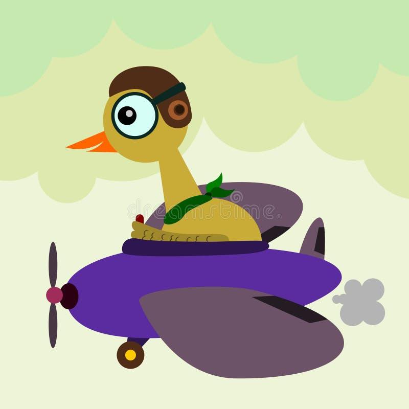 Pássaro piloto ilustração stock