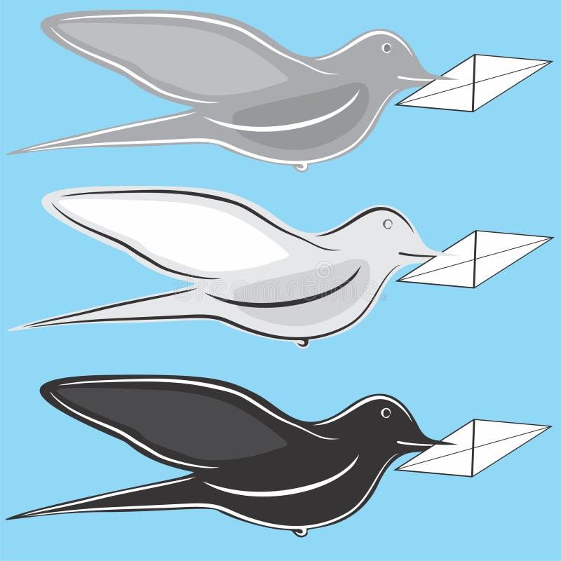 Pássaro postal ilustração stock