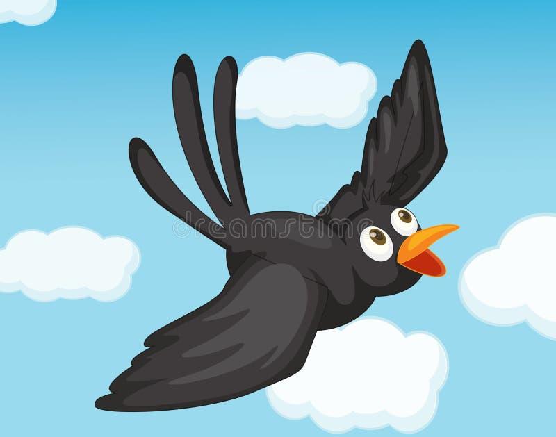 Pássaro preto ilustração royalty free