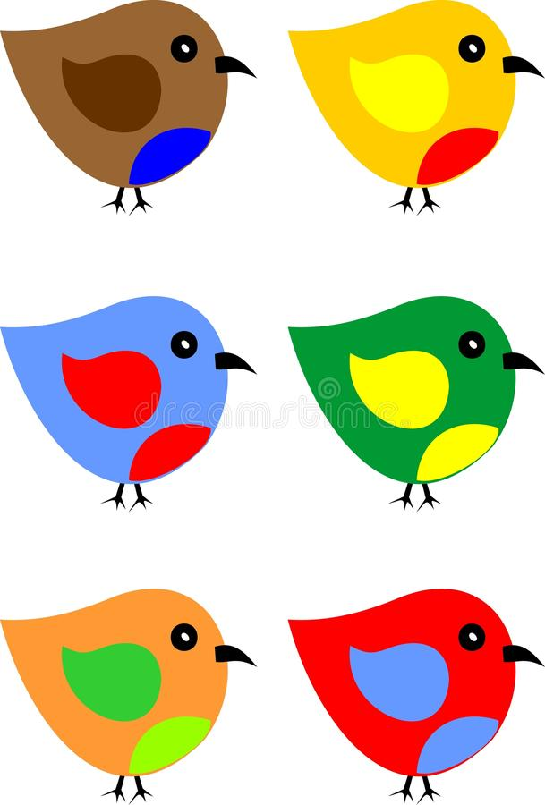 Pássaro raro ilustração royalty free