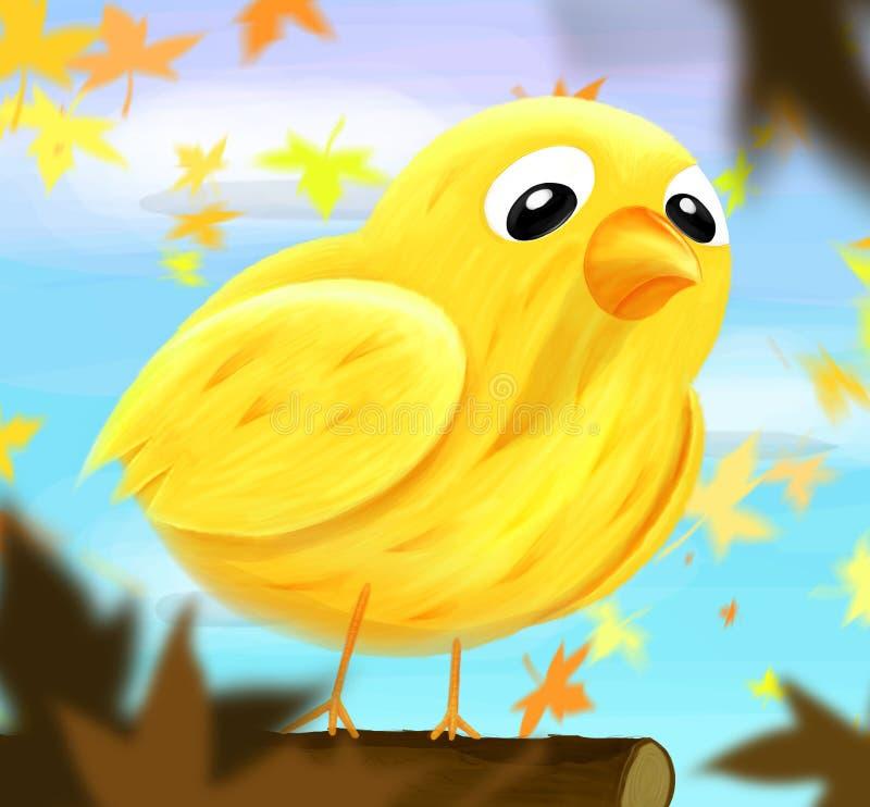 Pássaro triste ilustração royalty free
