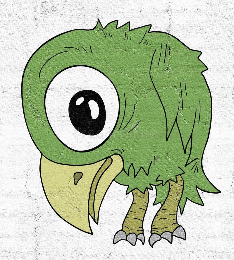 Pássaro verde ilustração do vetor