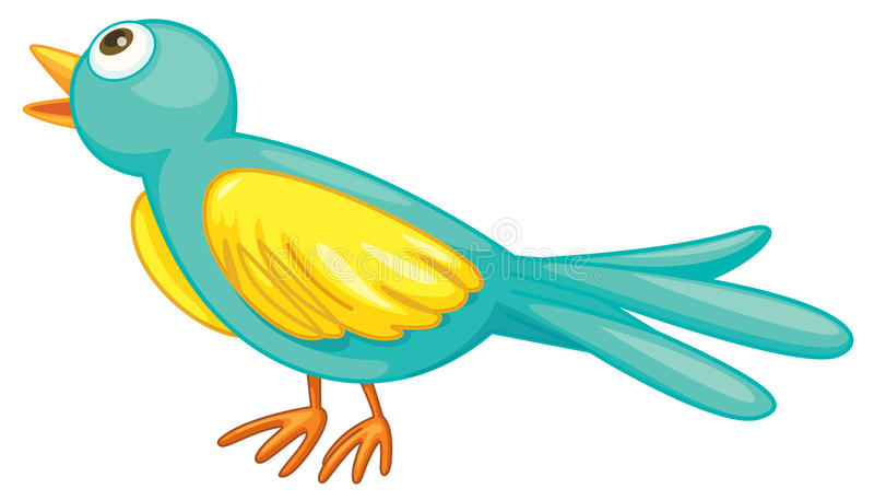 Pássaro verde ilustração stock