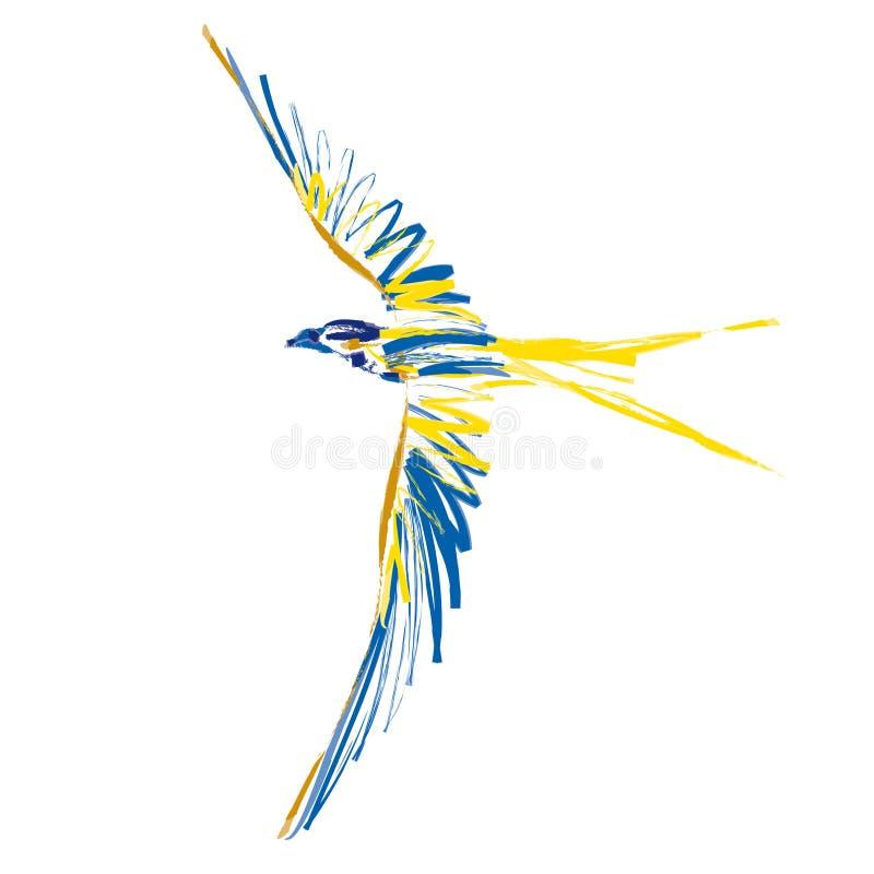 Pássaro (vetor) ilustração do vetor