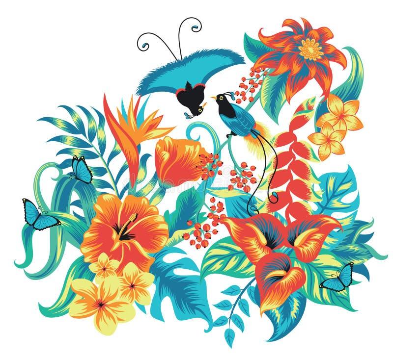 Pássaros. ilustração do vetor