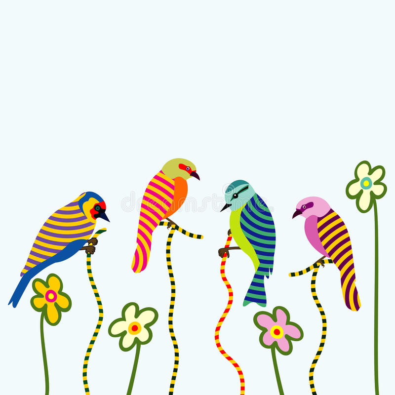Pássaros abstratos ilustração do vetor