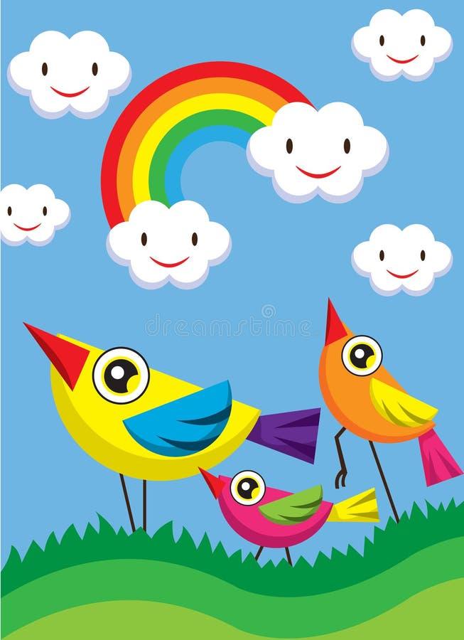 Pássaros bonitos ilustração stock