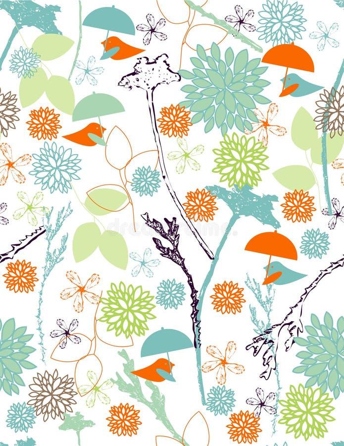 Pássaros da chuva ilustração royalty free