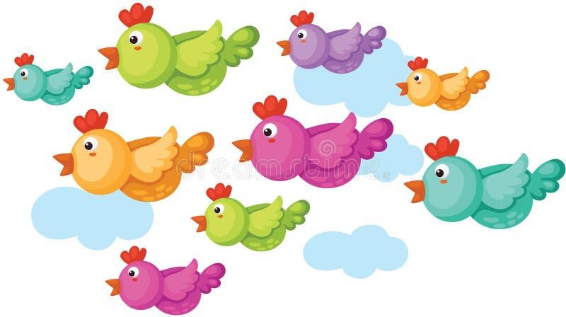 Pássaros de voo ilustração do vetor