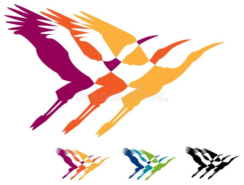 Pássaros de voo ilustração stock