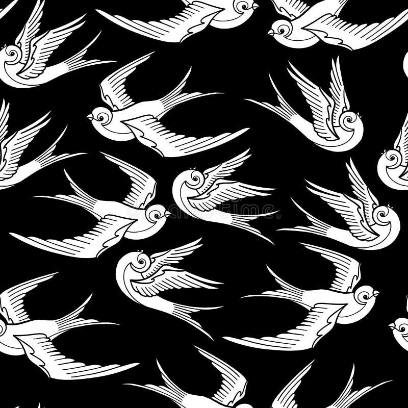 Pássaros de voo gráficos ilustração royalty free