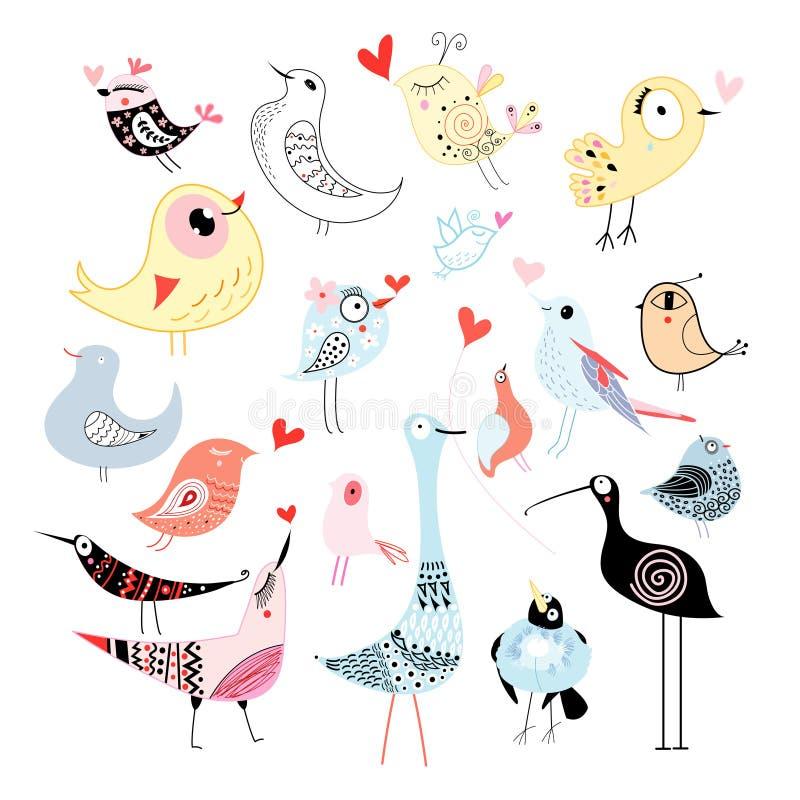 Download Pássaros Bonitos Dos Gráficos Ilustração do Vetor - Ilustração de edição, amor: 29844058