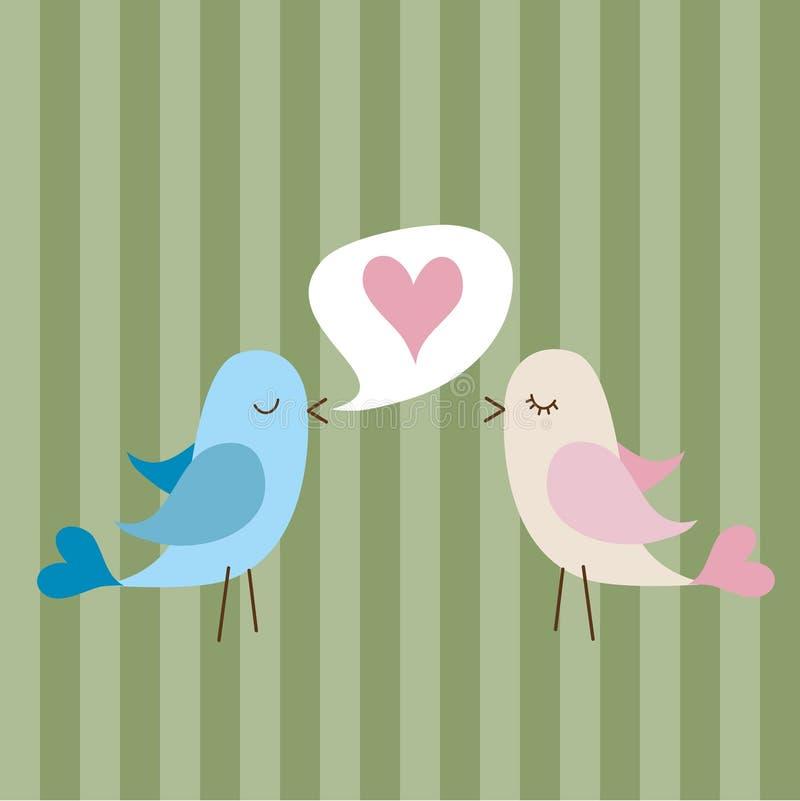 Pássaros do amor ilustração stock